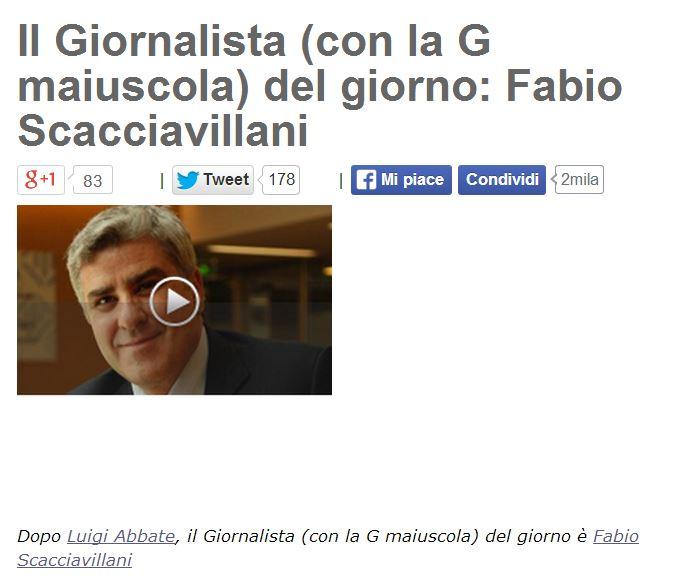 Il post di Beppe Grillo che elogia Fabio Scacciavillani