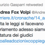 Maurizio Gasparri l'ha presa bene!