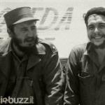 Claudio con Fidel e il Che