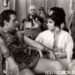 Claudio sul set di leopatra