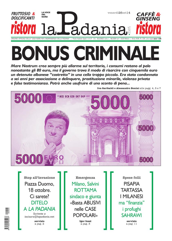 BONUS CRIMINALE