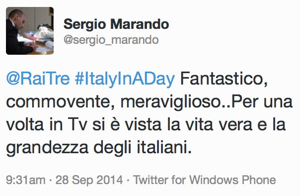 Italy in a day_commovente
