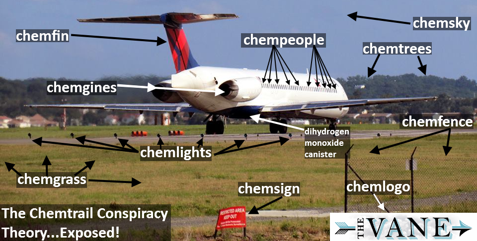 Chemtrails, chemtrails everywhere (fonte: thevane.gawker.com)