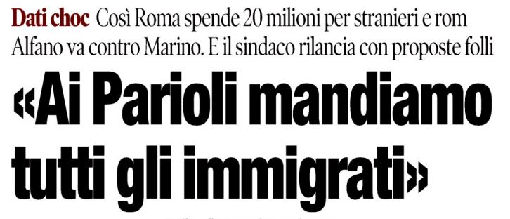 immigrati ai parioli