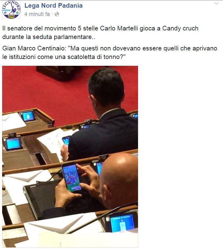 lega movimento 5 stelle carlo martelli candy crush