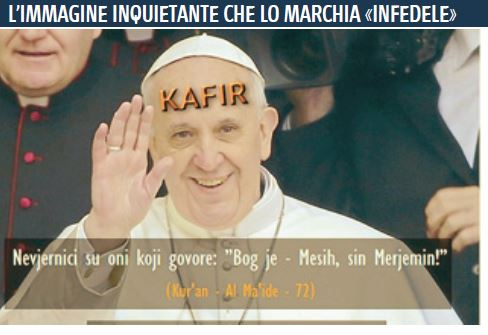 papa infedele giornale
