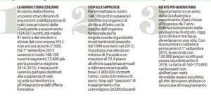 Le due infografiche di Repubblica sulle novità per i prof 2