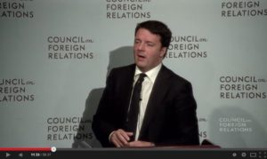 renzi inglese council on foreign relations 1