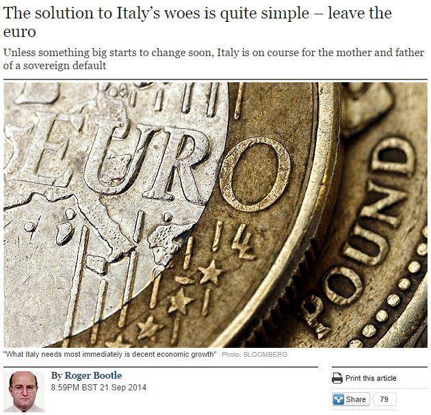 uscire dall'euro