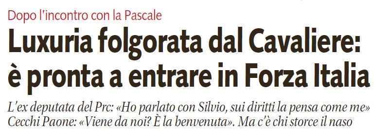 vladimir luxuria forza italia