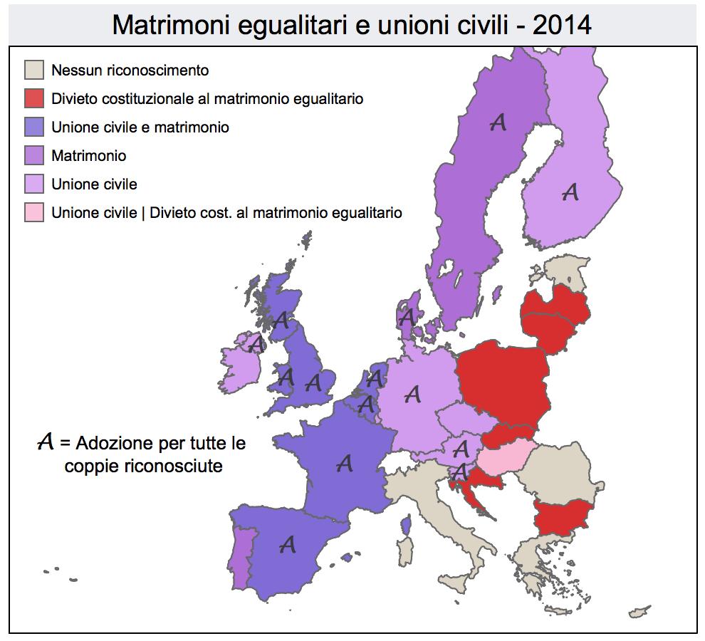 Matrimoni egualitari e unioni civili, 2014 (l'Espresso)