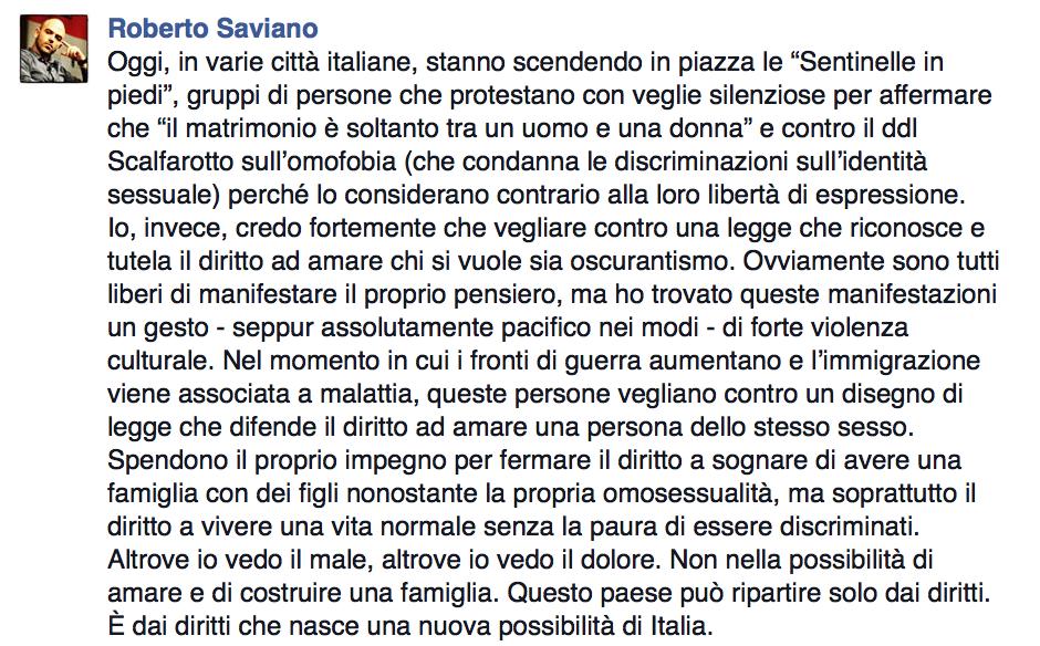 Saviano Facebook