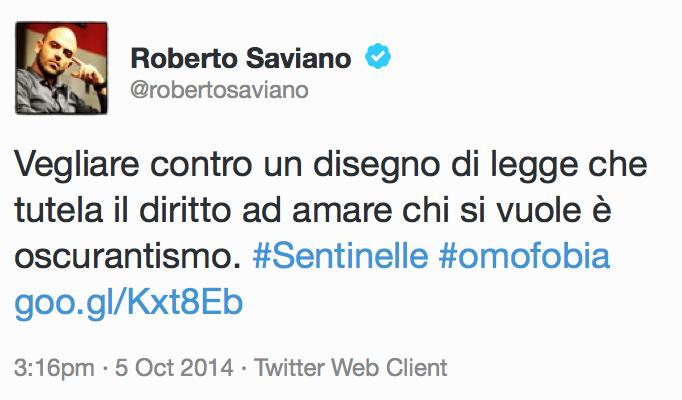 Saviano Twitter