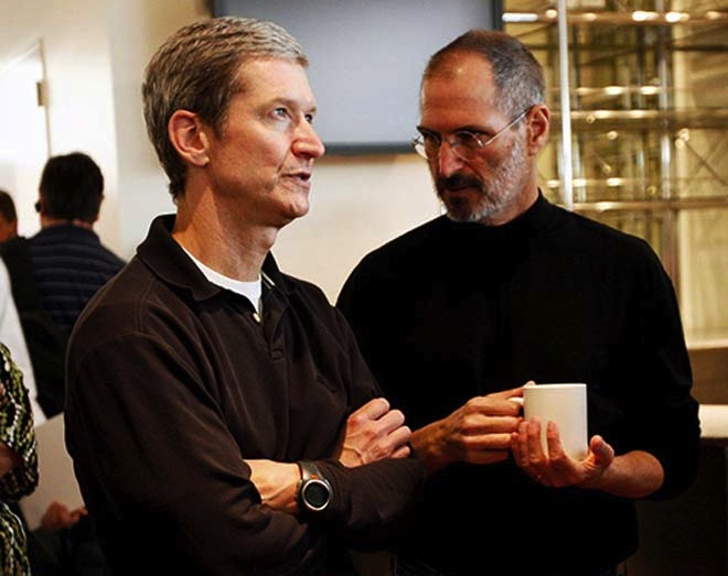 Tim Cook con Steve Jobs