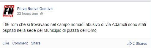 Aiuto i Rom (fonte: facebook.com)
