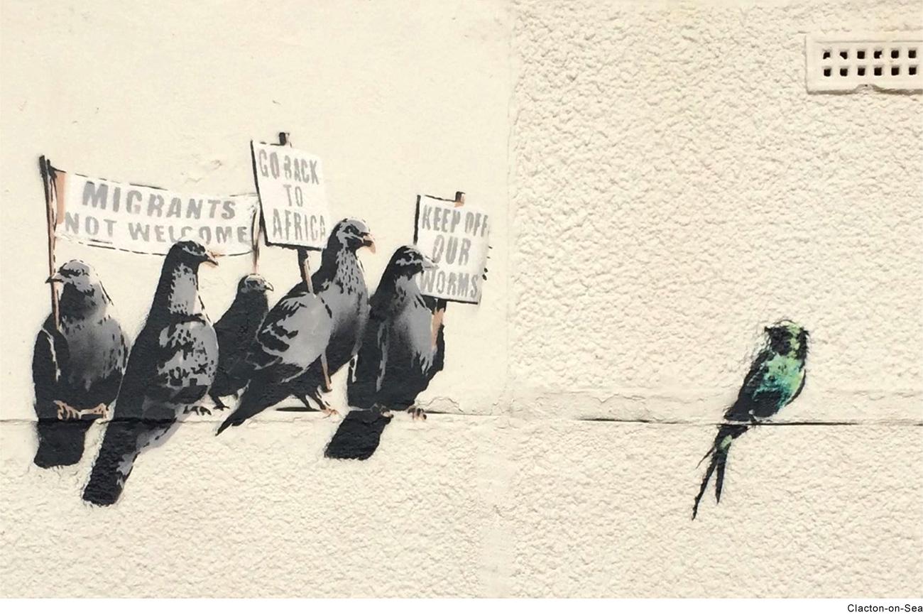 L'ultima opera di Banksy prima della distruzione (Fonte: banksy.co.uk)