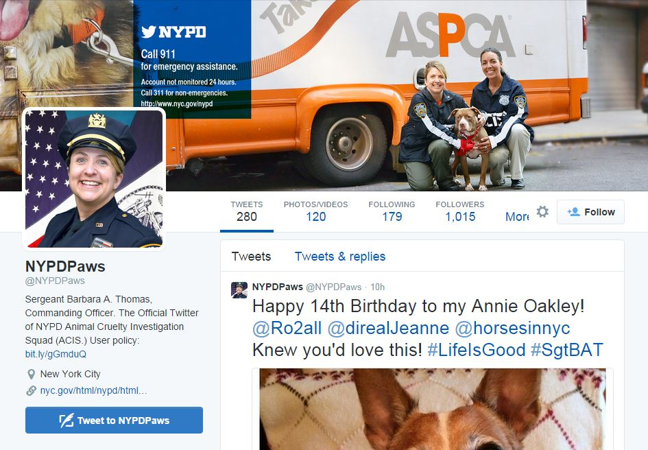 L'account Twitter della Animal Cruelty Investigation Squad
