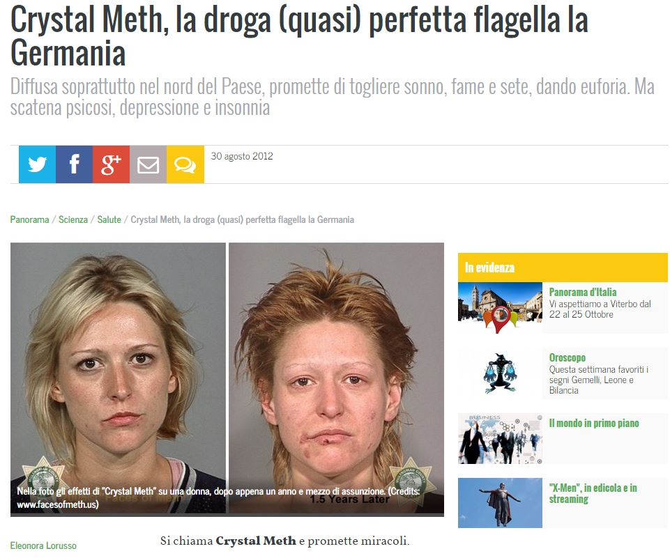 droga crystal meth panorama
