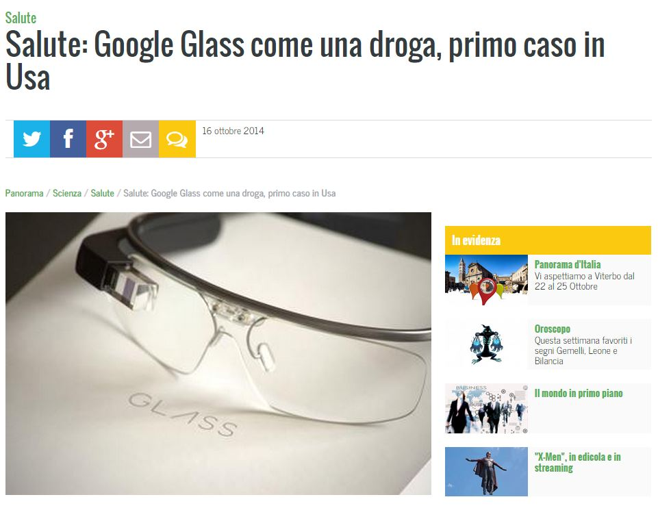 droga google glass panorama
