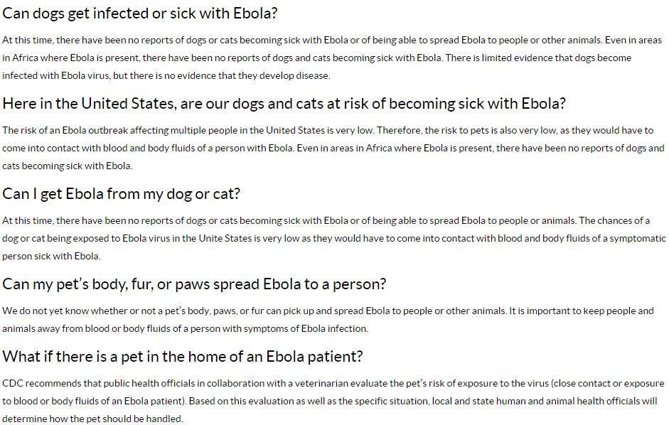 ebola cane