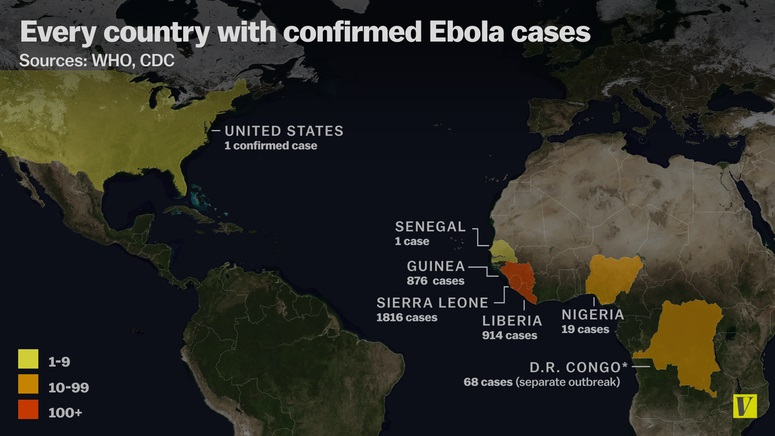ebola paesi epidemia