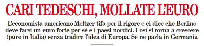 Il titolo dell'articolo di Marco Valerio Lo Prete sul Foglio di oggi, 31 ottobre 2014