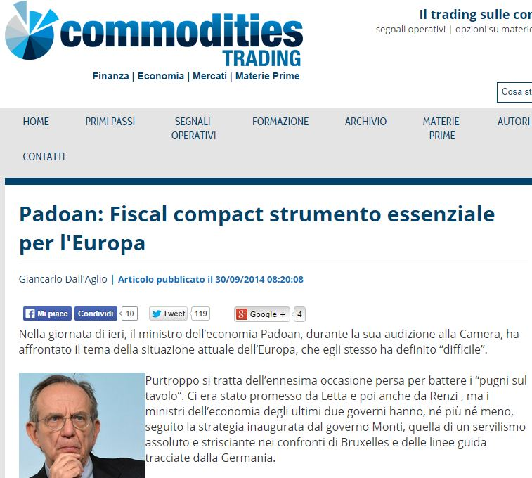 fiscal compact padoan