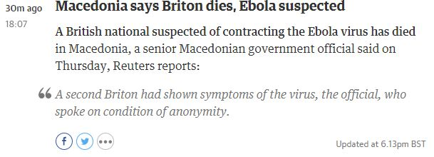macedonia ebola