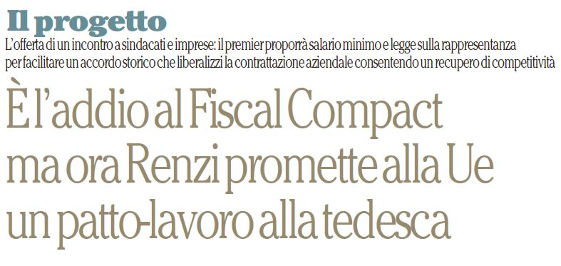 matteo renzi fiscal compact
