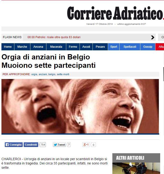 La notizia sul Corriere Adriatico