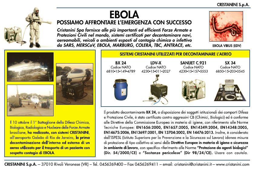 pe pubblicità su ebola