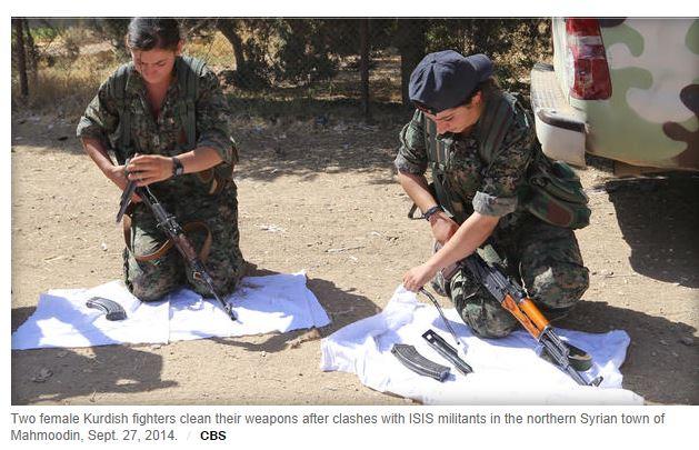Combattenti Peshmerga (fonte: cbsnews.com)