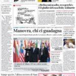 Prima pagina Corriere della Sera