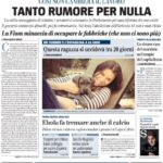 prima pagina giornale