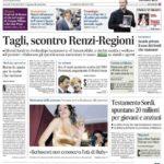 Prima pagina Il Messaggero