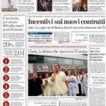 prima pagina la stampa 8 ottobre