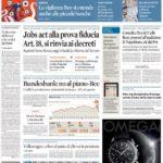 prima pagina sole 24 ore 8 ottobre