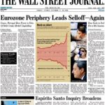 Prima pagina Wall Street Journal