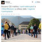 Le sentinelle in piedi a Bolzano