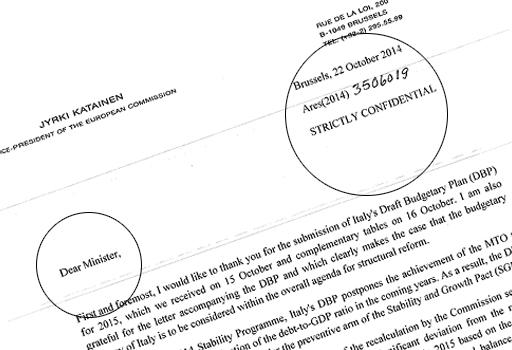 strictly confidential lettera UE manovra