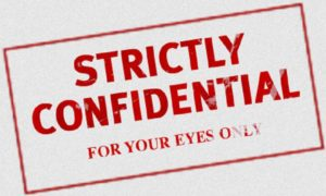 strictly confidential manovra