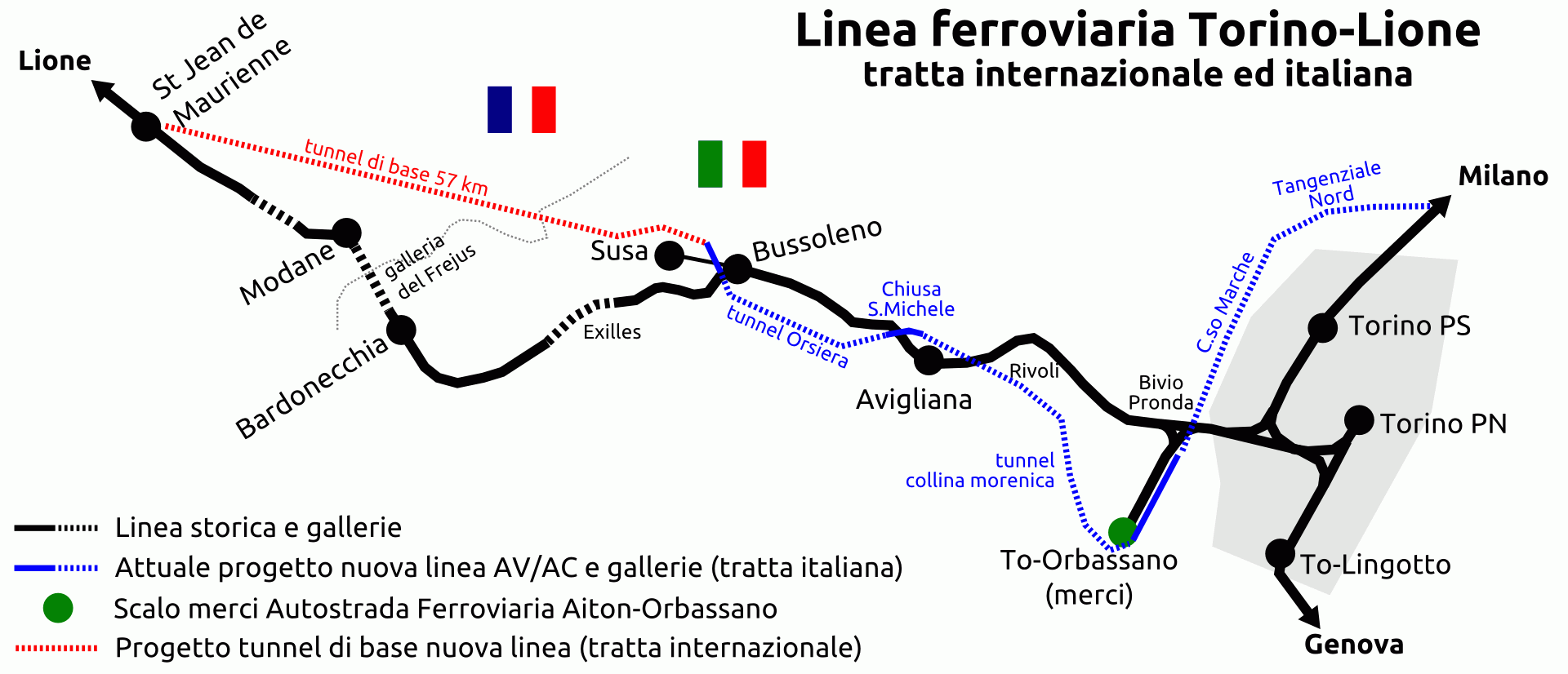 La TAV Torino-Lione (foto da: Wikipedia)