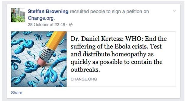 Browning omeopatia ebola