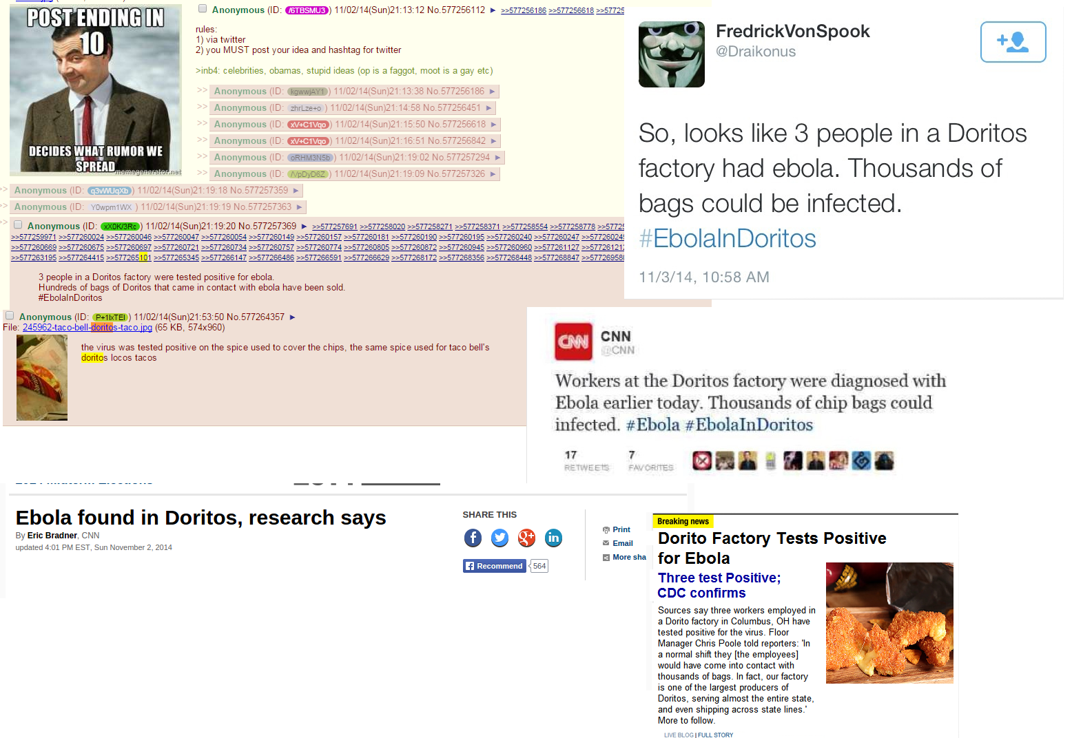 Ebola Doritos 4chan
