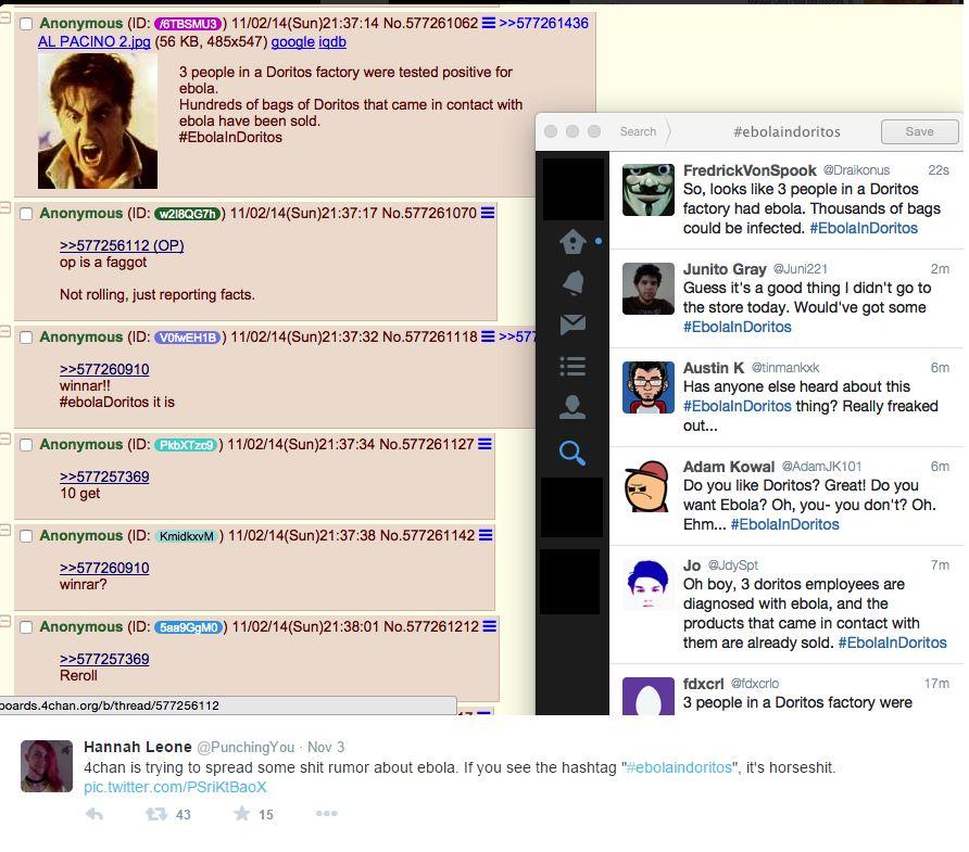 Un altro screenshot del thread su 4chan (via Twitter.com)