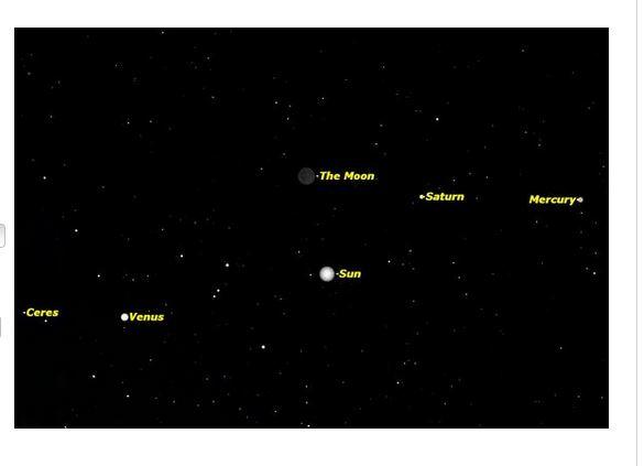 La congiunzione astrale del 22 novembre. (fonte: space.com)