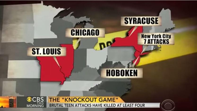 La localizzazione dei più recenti episodi di knockout game negli USA (via YouTube.com)