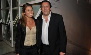 Marco Di Stefano con la moglie Gilda Renzi (foto da: Dagospia)