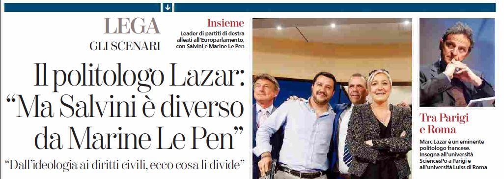 L'intervista a Marc Lazar sulla Stampa di Domenica 9 novembre (fonte: La Stampa)