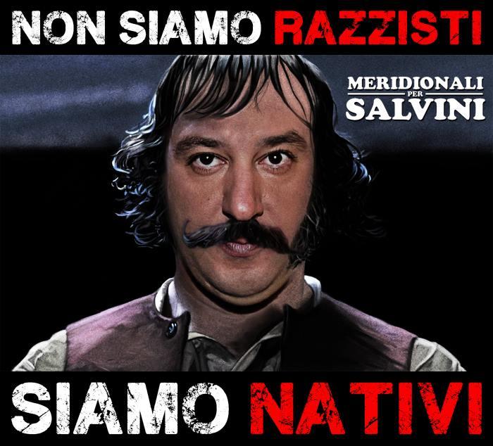 Vignetta da: Meridionali per Salvini, Facebook